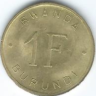Rwanda & Burundi - 1 Franc - 1961 - KM1 - Rwanda