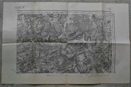55 VERDUN Carte TOPOGRAPHIQUE Revisee En 1913  Edition Provisoire - Cartes Topographiques
