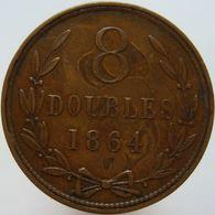 Guernsey 8 Doubles 1864 VF / XF - Guernsey