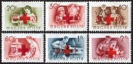 ~~~ Hungary Ungarn 1957 - Red Cross Overpr - Mi. 1482/1487 ** MNH ~~~ - Hongarije
