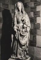 ***  AUBE ***  TROYES Photo D'art Godin Gaudin -format CP (certainement Destination Finale) Sculpture Vierge à L'Enfant - Signed Photographs