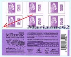 """France 2019 Carnet Avec REPERE Marianne L'engagée """" Une Marianne Pour L'International  """" - MHN Neuf - Carnets"""