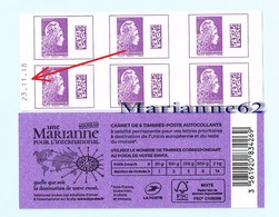"France 2019 Carnet DATE Marianne L'engagée "" Une Marianne Pour L'International  "" - MHN Neuf - Carnets"