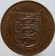 Jersey 1/12 Shilling 1946 XF / UNC - Jersey