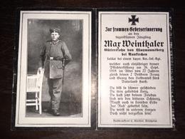Sterbebild Wk1 Ww1 Bidprentje Avis Décès Deathcard RIR10 ANZANNES II Block 2 Grab 1034 Aus Watzmannsberg - 1914-18