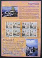 FRANCE CANADA- 2008 - EMISSION COMMUNE FRANCE / CANADA - France