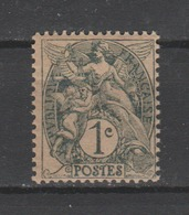FRANCE / 1900 / Y&T N° 107d **  : Blanc 1c Gris (type IB Papier GC) - Gomme D'origine Intacte - France