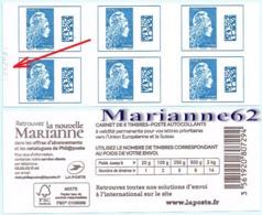 "France 2018 Carnet Marianne L'engagée Tarif Europe "" La Nouvelle Marianne "" - MNH Neuf - Carnets"