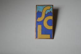 Rare  Insigne émaillé SCL Format 1.5 X 3 Cm - Insignes & Rubans