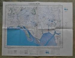 85 L'AIGUILLON SUR MER Carte TOPOGRAPHIQUE Type 1922  1/50 000e - Cartes Topographiques
