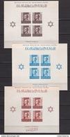 MARRUECOS 1938 - Pro Mutilados De Guerra Serie Completa Sin Fijasellos Hojas Bloque Sin Dentar Edifil Nº 4/6 -MNH- - Maroc Espagnol