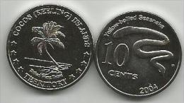 Cocos (Keeling) Islands 10 Cents 2004. Unc - Coins