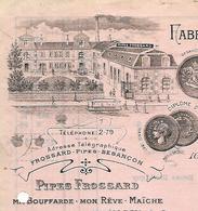 Facture + Traite 1932 / 25 BESANCON MAICHE / 39 ST CLAUDE/ FROSSARD / Fabrique Pipes Tabatières / Pipes Gambier Fiolet - France