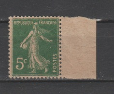 FRANCE / 1907 / Y&T N° 137h ** : Semeuse Camée 5c Vert (papier GC) BdF - Gomme D'origine Intacte Avec Bulle - France
