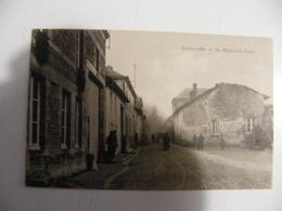 CPA Saint Hilaire Le Petit Rue De L'église Franchise Militaire Allemande Guerre 14-18 Non Voyagée - France