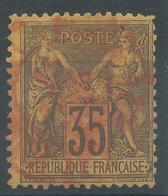 Lot N°48586  N°93, Oblit Cachet à Date Des Imprimés ROUGE - 1876-1898 Sage (Type II)