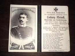 Sterbebild Wk1 Ww1 Bidprentje Avis Décès Deathcard 8. Chev Regt Pionier LAMBERSART Block 1 Grab 1004 Aus Vorderelexenau - 1914-18