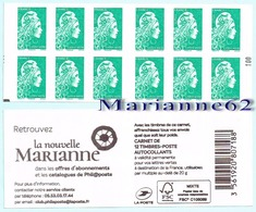 "France 2018 Carnet Marianne LV N° 100 - Marianne L'engagée - "" La Nouvelle Marianne "" - MNH Neuf - Carnets"
