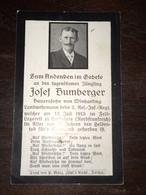 Sterbebild Wk1 Ww1 Bidprentje Avis Décès Deathcard IR3 CORBEHEM ST LAURENT BLANGY Block 1 Grab 1105 Aus Winharting - 1914-18