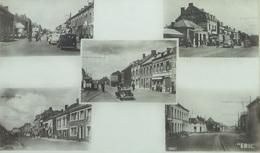 Quiévrain Quiévrechain Frontière Douane Avec Automobiles Et Tram / Souvenir Franco-Belge - Quiévrain