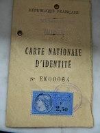 FRANCE:CARTE D'IDENTITE DE FRESNES SUR ESCAUT -CARLIER ALICE 1965 - Vieux Papiers