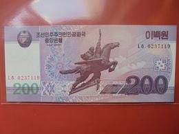 COREE(NORD) 200 WON 2008 PEU CIRCULER/NEUF - Corée Du Nord