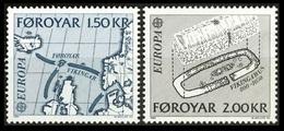 """1982Faroe Islands70-71Europa Cept """"Historic Events"""" 1,00 € - Féroé (Iles)"""