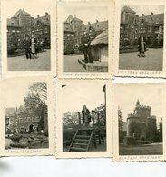 LOT De 6 PHotos Au Château De Gaesbeek Ou Gaasbeek à Lennik Belgique Années 1950 - Lugares