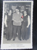 Postkarte Propaganda - Hitler Mit Olympia Siegerinnen Cranz Und Grasegger 1936 Photo-Hoffmann - Deutschland
