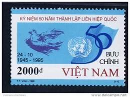 Vietnam Viet Nam MNH Perf Stamp 1995 : 50th Anniversary Of United Nations Organisation / Picasso / Bird (Ms719) - Vietnam