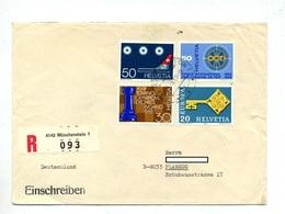 Lettre Recommandee Münchenstein Sur Commemoratif - Marcophilie