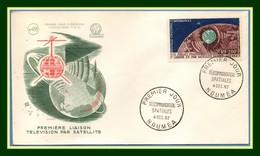 Nouvelle Calédonie  FDC N° PA 73 Satellite 1962 (cote + 30 Euros) New Calédonia Espace Space Télécommunications - FDC & Commémoratifs