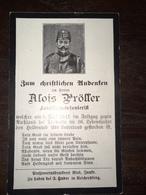 Sterbebild Wk1 Ww1 Bidprentje Avis Décès Deathcard KUK TRAWADA Russland 9. Mai 1915 - 1914-18