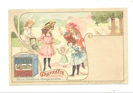 FANTAISIE - Carte Publicitaire Gaufrette Olibet Triomphe - Jolie Lythographie  - 1904 (fr75) - Publicité