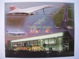 Avion / Airplane / BRITISH AIRWAYS  / Concorde / Seen At Heathrow Airport / Size: 14,5X18,5cm - 1946-....: Ere Moderne