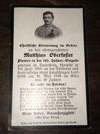 Sterbebild Wk1 Ww1 Bidprentje Avis Décès Deathcard KUK 180. Inf. Brigade PIONIER Südfront Aus Sartnhein - 1914-18