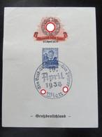 Gedenkblatt Anschluß 1938 - Erhaltung I-II - Briefe U. Dokumente