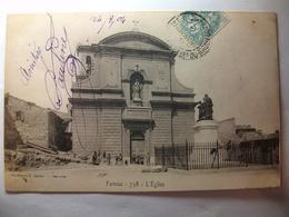 Carte Postale Fuveau (13) L'Eglise  (CPA Dos Non Divisé  Oblitérée 1904 Timbre 5 Centimes) - Autres Communes