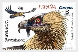 H01 Spain Europa 2019 - Birds - Bearded Vulture MNH Postfrisch - 1931-Heute: 2. Rep. - ... Juan Carlos I