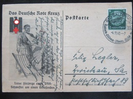 Postkarte Propaganda DRK - Gelaufen 1940 - Erhaltung II-III (Mittelbug!) - Briefe U. Dokumente