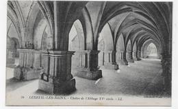 (RECTO / VERSO) LUXEUIL LES BAINS EN 1923 - N° 34 - CLOITRE DE L' ABBAYE DU XVe SIECLE - BEAU CACHET - CPA VOYAGEE - Luxeuil Les Bains