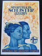 Postkarte Werbung Sportshaus Schuster Ca. 1940 - Rückseite Fleckig - Briefe U. Dokumente