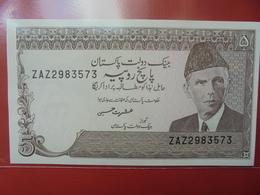 PAKISTAN 5 RUPEES 1983-84 PEU CIRCULER/NEUF - Pakistan