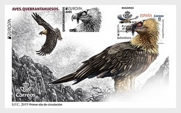 H01 Spain Europa 2019 - Birds - Bearded Vulture FDC - 1931-Heute: 2. Rep. - ... Juan Carlos I