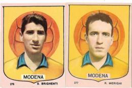 2 FIGURINE MODENA(BRIGHENTI-MERIGHI) IMPERIA 1964/65 NUOVE - Calcio