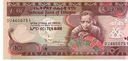 Ethiopia P.48d 10 Birr 2017 Unc - Ethiopia