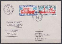 TAAF 1978 Dan Ships 2v On Cover Ca 4.1.1978 Port-aux-Francais Kerguelen (42536) - Franse Zuidelijke En Antarctische Gebieden (TAAF)