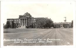 Beardshear Hall - Engineering Hall In Background - Iowa State College - Ames - Iowa - & Old Cars, School - Ames