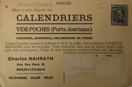 Schaerbeek (Bruxelles) Carte De Promotion Charles Nahrath Rue Van Oost 19?? - Schaerbeek - Schaarbeek