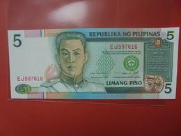 PHILIPPINES 5 PISO 1995 PEU CIRCULER/NEUF - Philippines